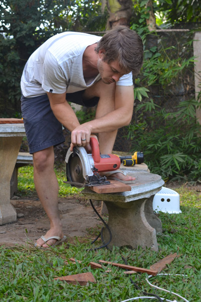 Ryan Crossett builds a pizza oven door