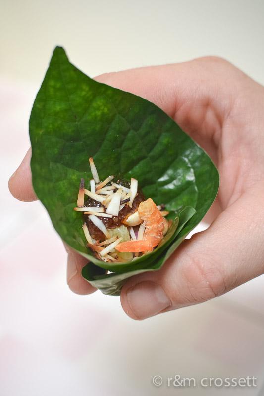 Thai snack miang kham